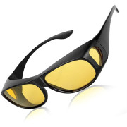 HD Polarized Night Vision Sunglasses for driving in the dark - yellow glass