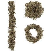 Messy Curly Hair for tuber # M6PH613 - Brown / Blonde Mix