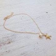 Anklet Starfish + Pearl