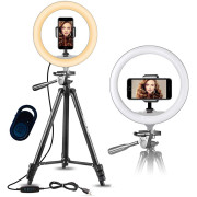 Ring Light Model 3366 YouTube and Tik Tok | With Tripod max. 167 cm & Bluetooth Remote Control