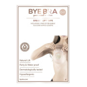 Bye Bra Push-Up Breast Tape + Silicone Nipple Covers - Size D-F