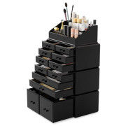 Avery XXL Organizer with 12 drawers and 16 compartments - Black