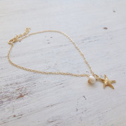 Anklet - Starfish + Pearl