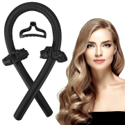 Heatless Hair Curlers - Get beautiful curls without heat - Black