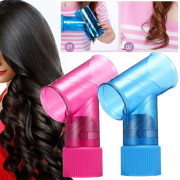Magic Wind Curler Diffuser - mouthpiece for hair, pink