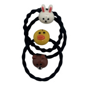 3 sweet rubber bands with animals - For children