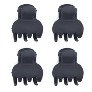Soho® Mini Hair Clips - 4 Pieces Black