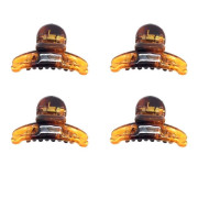 Soho® Mini Tortoise Hair Clips - 4 pcs