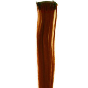 Brown, 50 cm - Crazy Color Clip On
