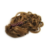 Ponytail Extensions with hair claw, curly - Light Brown #6