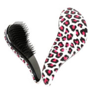 Detangler Hair Brush, Red Leopard