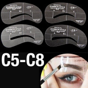 Eyebrow Stencil template cards (C5-C8) - 4 stk.