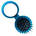 Compact Make-up Mirror with Brush Blue