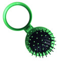Compact Make-up Mirror with Brush Green