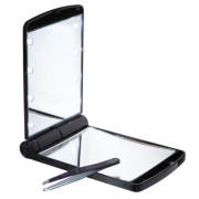 Uniq® Pocketsize Mirror/ Make-up Mirror with LED Light - 7,5 x 8,5 cm