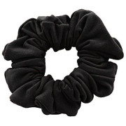 Scrunchie - Velour & Elastic - Black