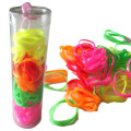 Snag Free Hair Ties in a Tube - Neon Edition - 50 Pieces