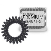 Premium Spiral Hair Elastics 3 Pieces - Black