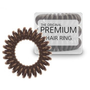 Spiral Hair Ties 3 Pieces - Brown