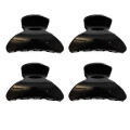 Hair Claws, 4 pcs - 2,5 cm Black