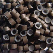 Silicone micro rings brown 100 pcs.