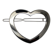 SOHO® Heart Metal Hair Clip - Silver