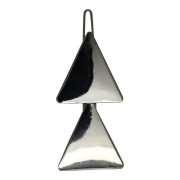 SOHO® Triangles Metal Hair Clip - Silver