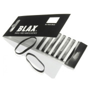 BLAX Snagfree hair elastics 4mm Black 8pcs