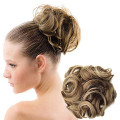 Hair Donut bun with hair Wavy Curly Messy Donut Chignons | Dark Blond Mix