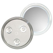 Uniq Makeup Mirror 10X Magnification with Suction - White