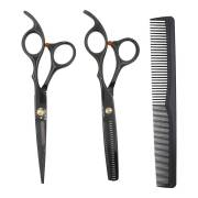 PRO Hair Cutting Scissors Set with haircomb and leather case