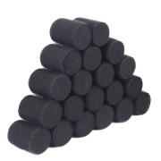 Sleep in Velcro Hårcurlers 6 pcs - Black