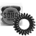 SOHO® Spiral Hair Elastics, ALL BLACK - 3 pcs