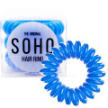 SOHO® Spiral Hair Elastics, ROYAL BLUE - 3 pcs