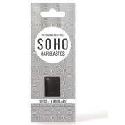SOHO Snag-Free Hair Elastics, black - 10 pcs