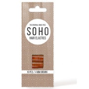 SOHO Snag-Free Hair Elastics, brown - 10 pcs