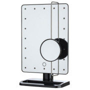 UNIQ® Hollywood Makeup Mirror with LED Light x10 Magnification - Black