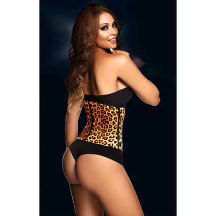 AVA® Latex Waist Trainer - Leopard