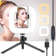 Selfie Ring Light for iPhone / Android | LED lighting for smartphones - D21