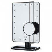 UNIQ Hollywood Mirror Black with 10X Magnifying - Black