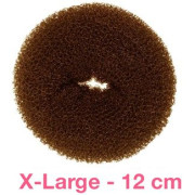 12 cm hair donut - brown Mega size