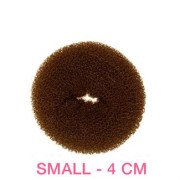 4 cm Hair Donut Brown