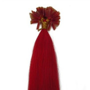 60 cm Hot fusion hair extensions Total Red