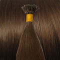 50 cm Cold Fusion hair extensions brown 4#