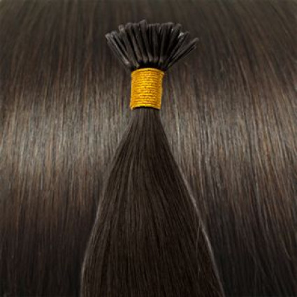 50 cm Cold Fusion hair extensions dark Brown 2#