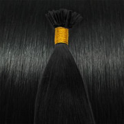 50 cm Cold Fusion hair extensions Black 1#