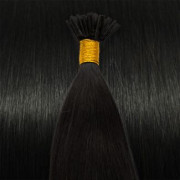 50 cm Cold Fusion hair extensions Jet Black 1B#