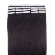 60 cm tape on Hair extensions Jet Black 1B#