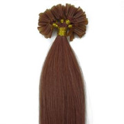 60 cm Hot Fusion Hair extensions 30# Red Brown
