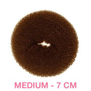 7 cm Hair donut - brown